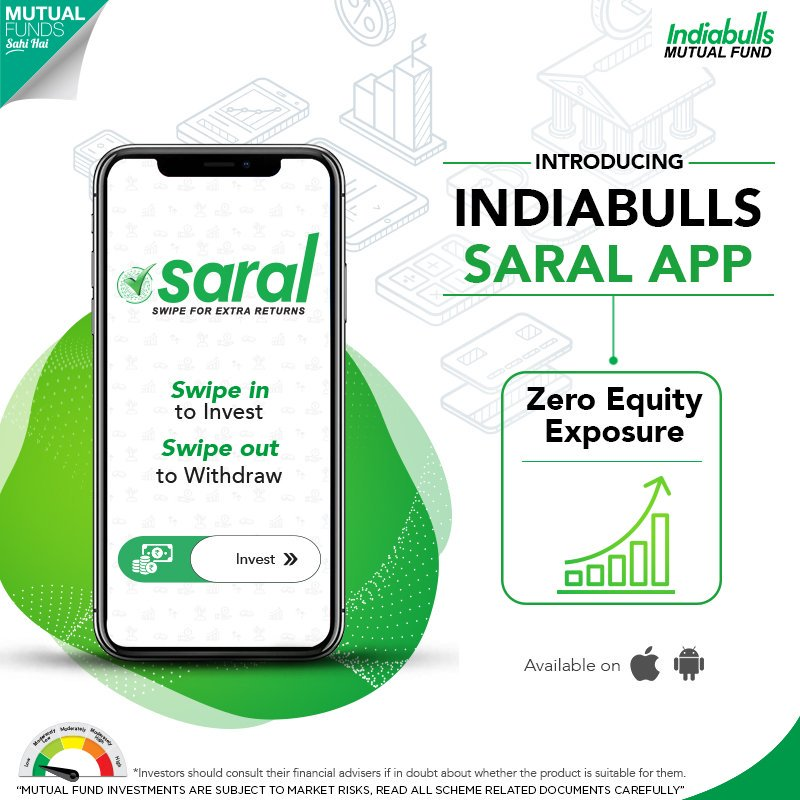 Indiabulls Saral App - Mutual Fund Investment in 3 Easy Steps