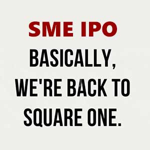 Are SME IPOs back to square one?