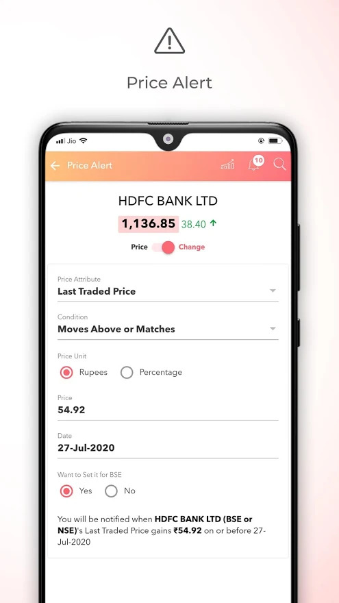 Choice Broking Mobile App (Jiffy) Demo 4