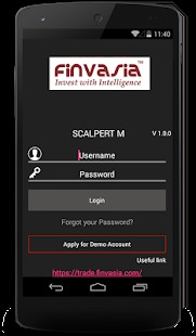Finvasia ScalperT Mobile App Demo 1