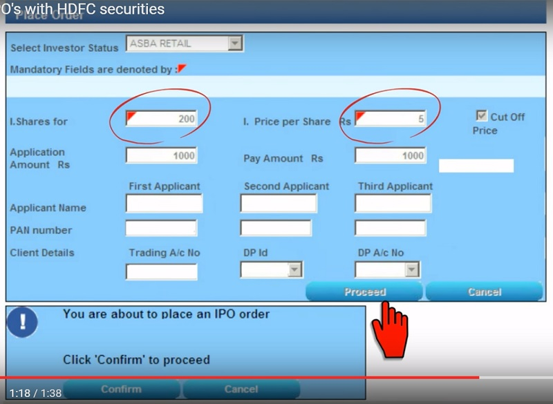Apply IPO with HDFC Securities - Step 3