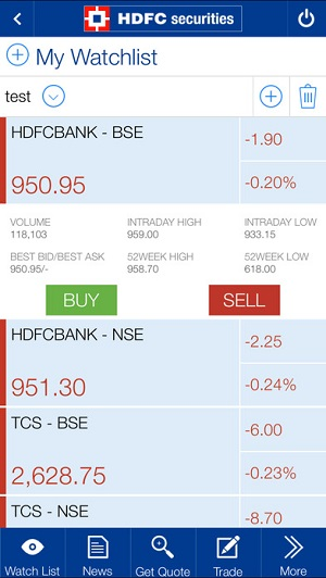 HDFC Securities Mobile App Demo 4