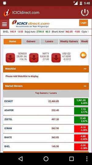 ICICIDirect Mobile App Review | Demo, Download and Charges
