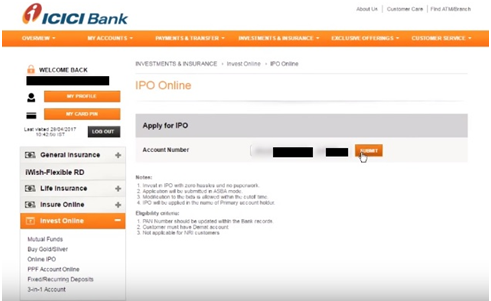ICICI Bank - Apply IPO Online