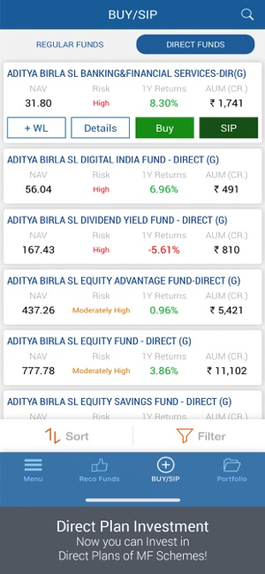 IIFL Mutual Funds App Demo 2
