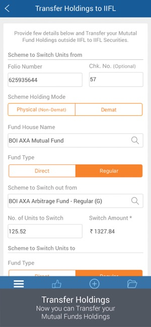 IIFL Mutual Funds App Demo 7