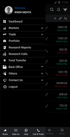 Indira Securities Mobile App Demo - Backoffice