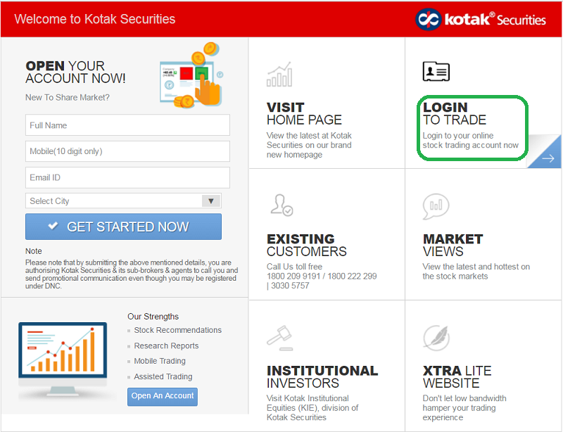 Apply IPO with Kotak Securities - Step 1