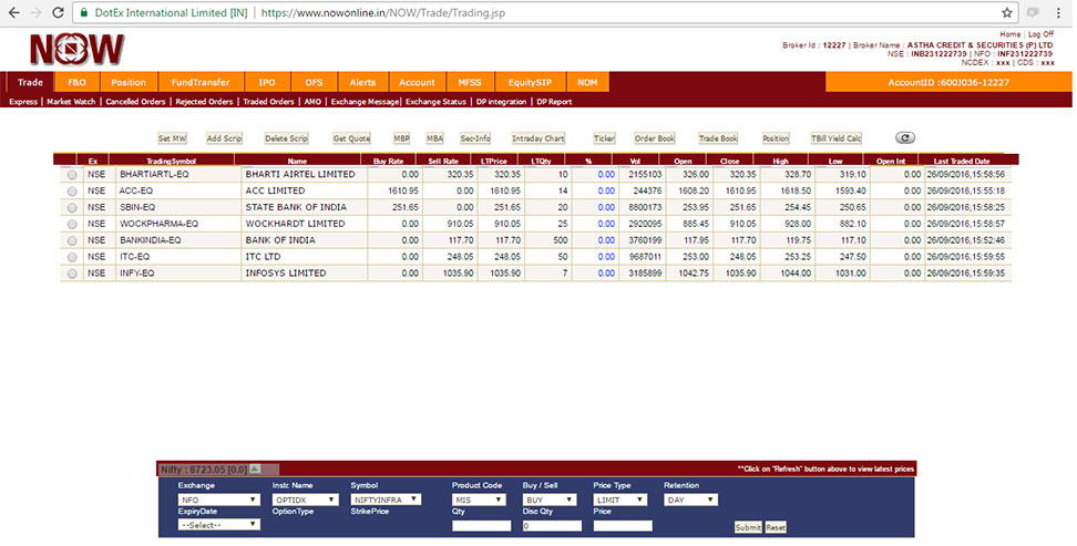 NSE NOW Platform Features