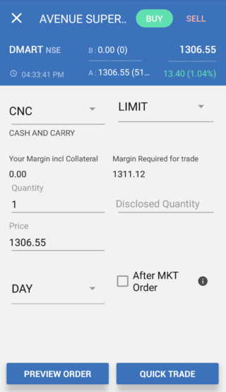 SAMCO StockNote Mobile App Demo 7