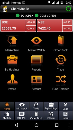 Sharekhan Mobile App Demo 1
