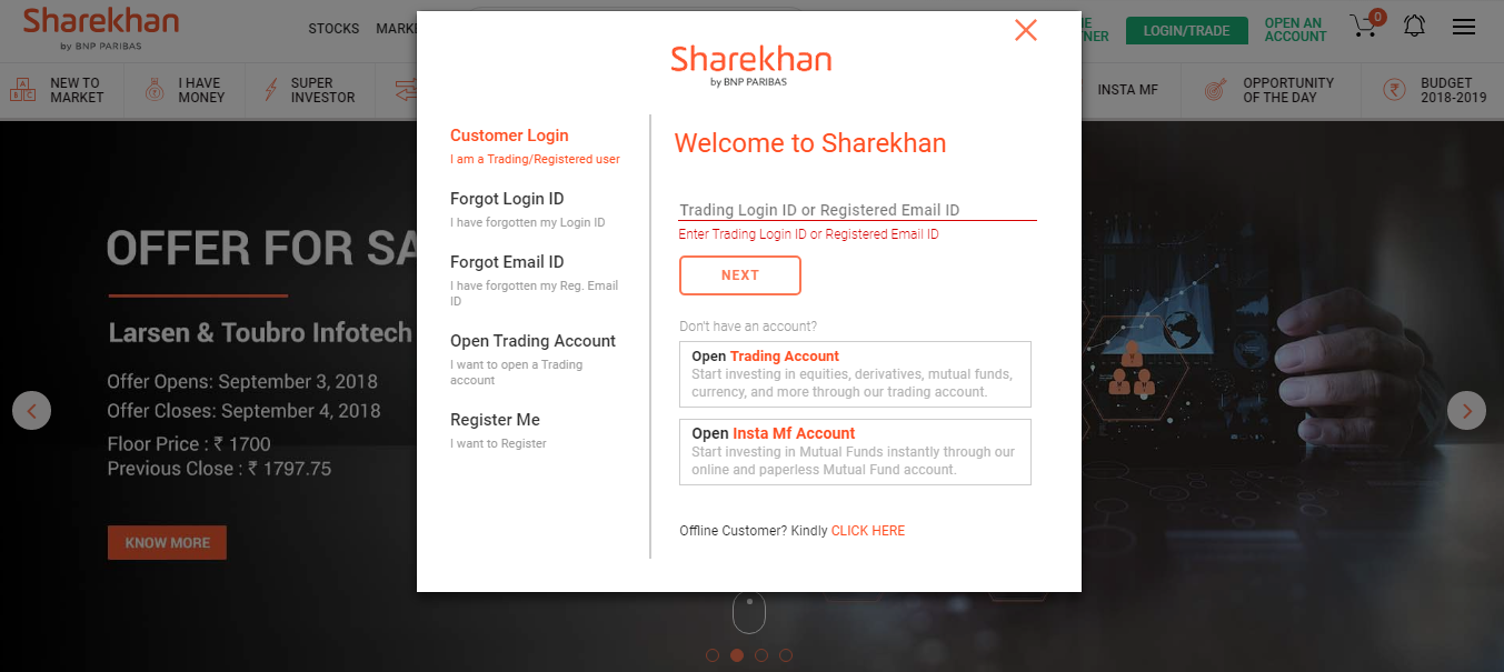 Sharekhan- How to trade, buy and sell, options?