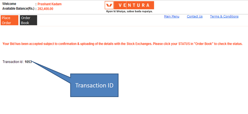 Apply IPO with Ventura Securities - Step 4