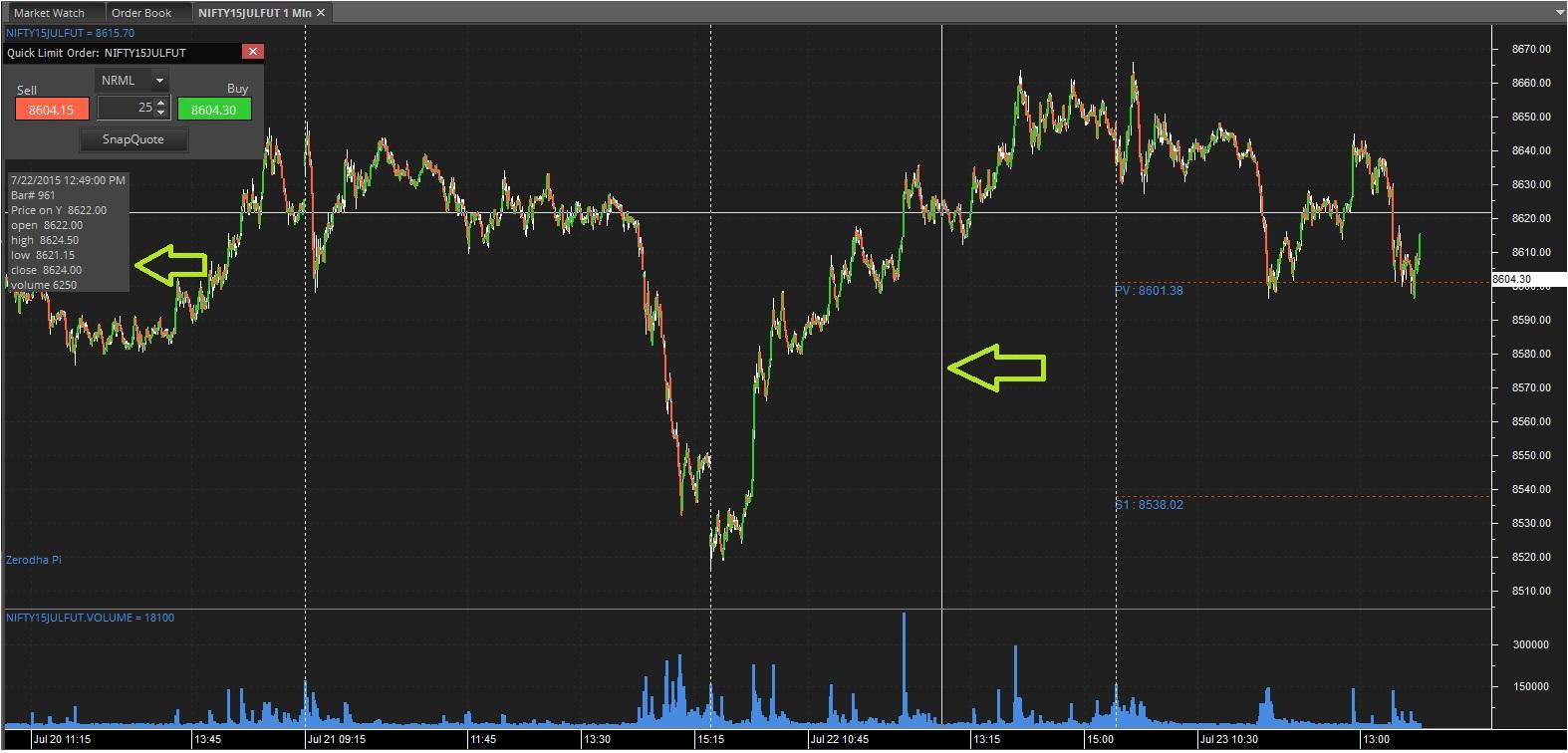 Zerodha commodity trading platform