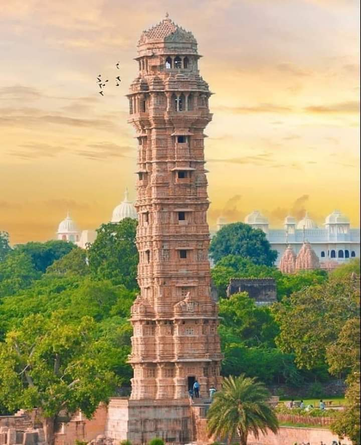 Tower Of Victory (Vijay Stambh) at Chittorgarh Fort