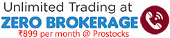 Unlimited Trading @ Rs 899 per month - Prostocks