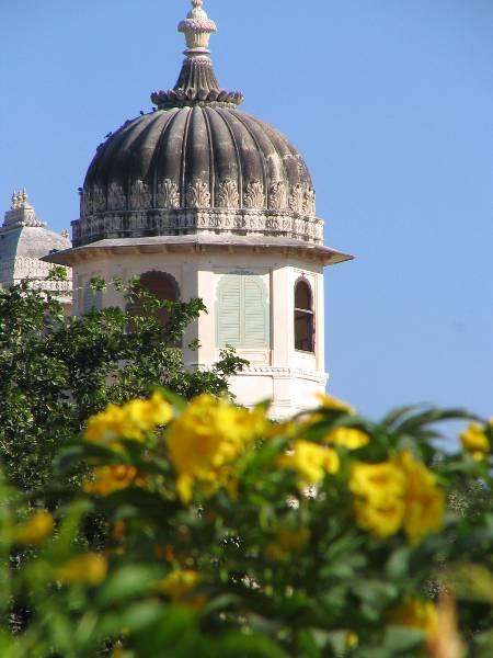 Dome at Fateh Prakash Palace